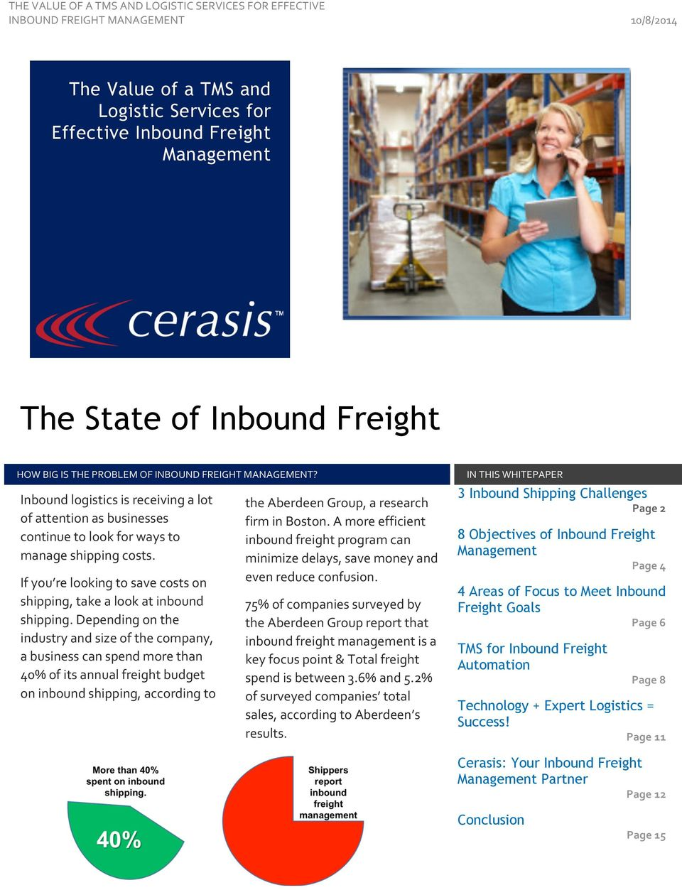 The State of Inbound Freight - PDF