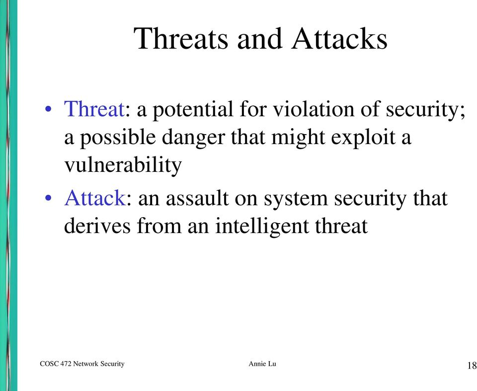 vulnerability Attack: an assault on system security that