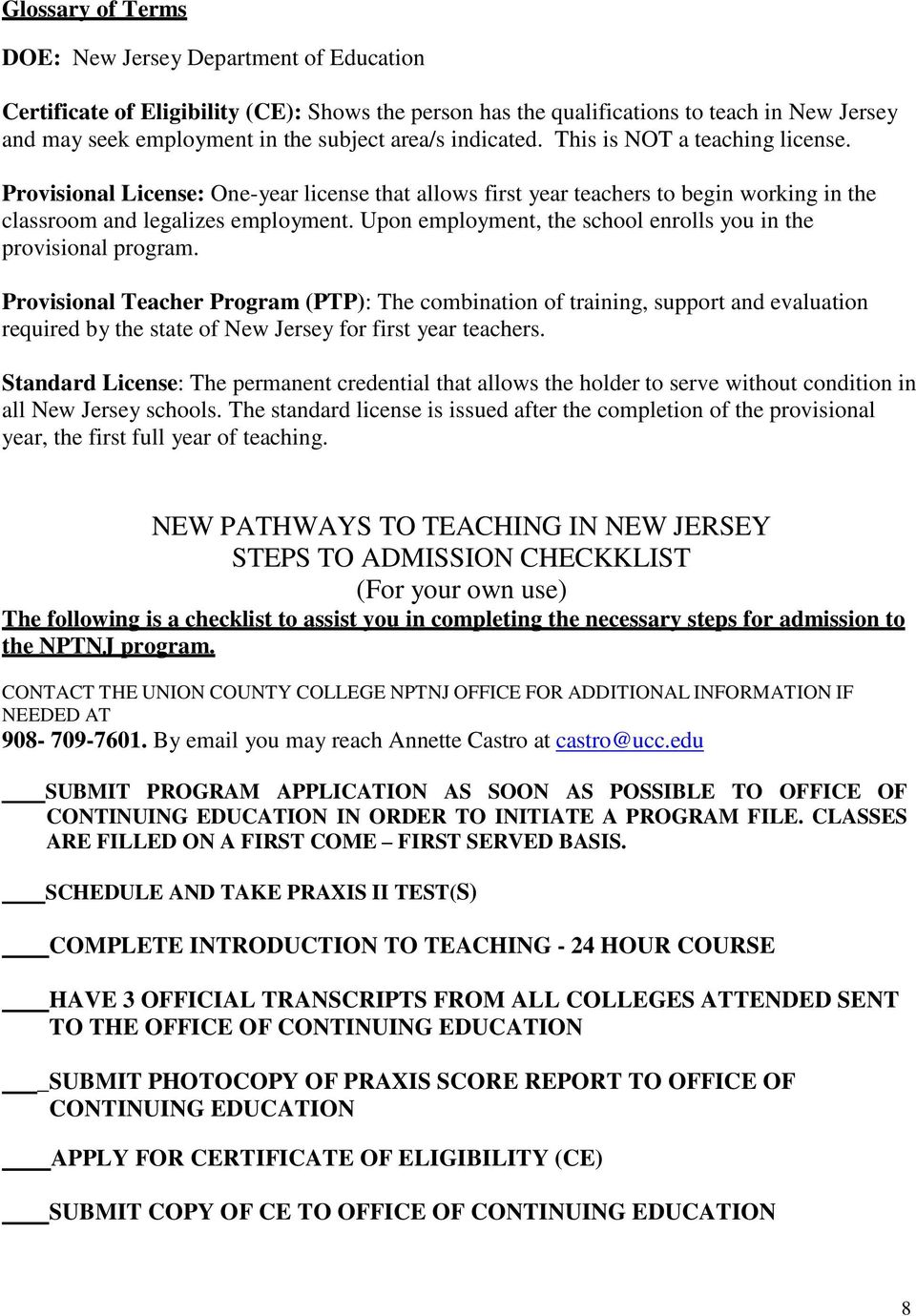 New Pathways To Teaching In New Jersey An Alternate Route To