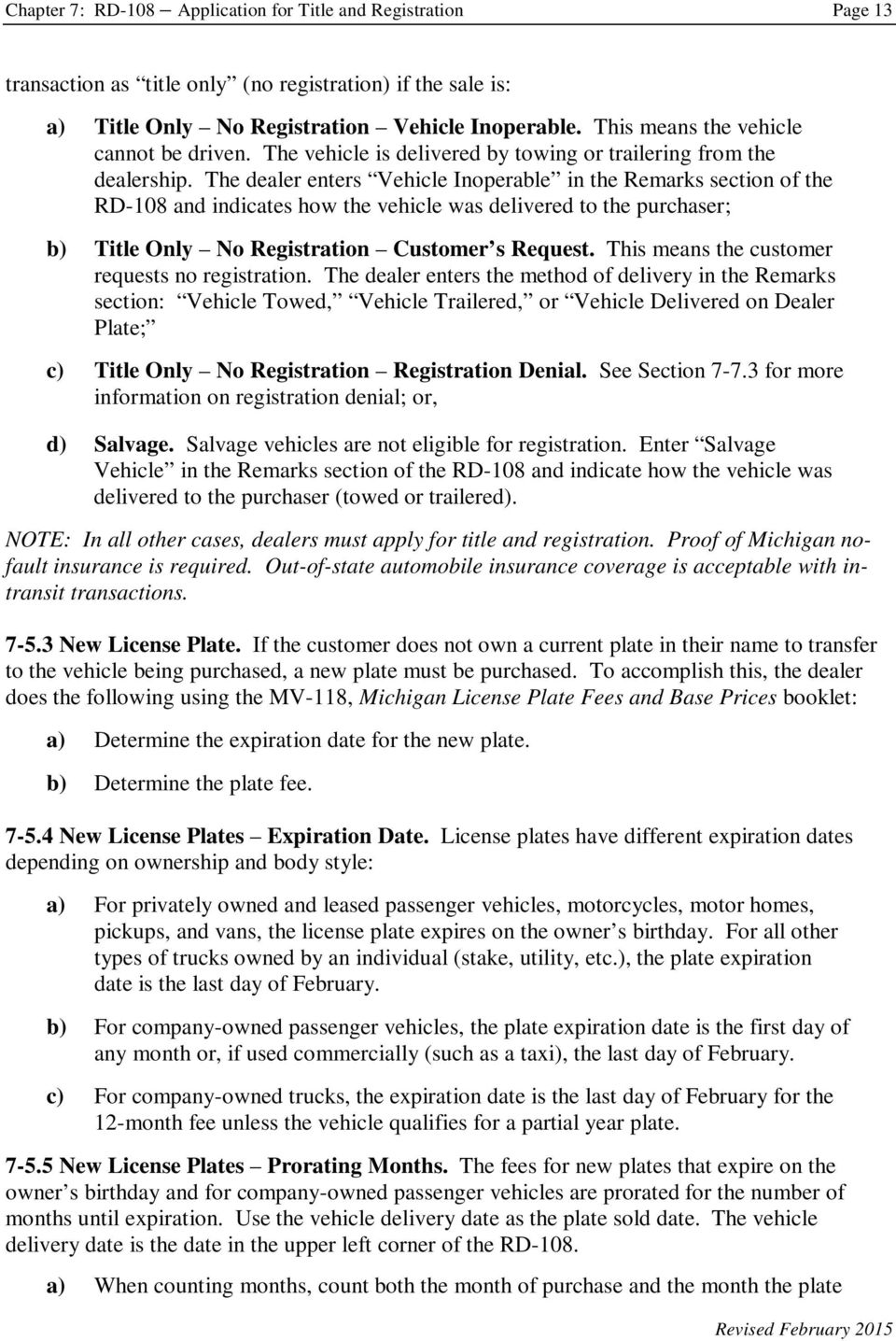 Chapter 7 Rd 108 Application For Title And Registration Pdf
