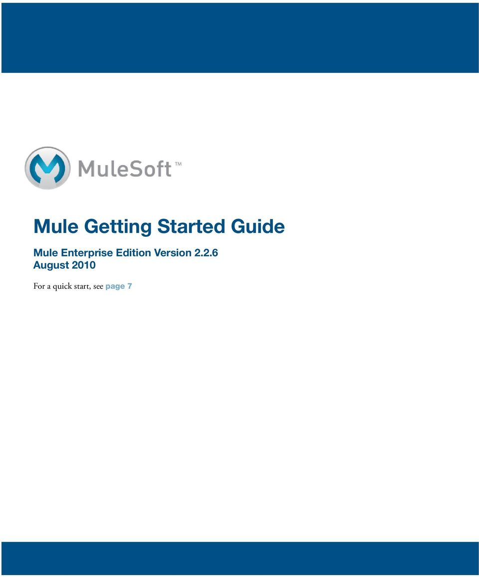 Mule Getting Started Guide - PDF