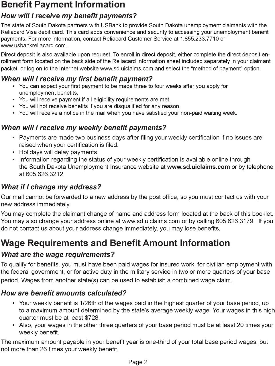 Facts About Unemployment Insurance Benefits Pdf