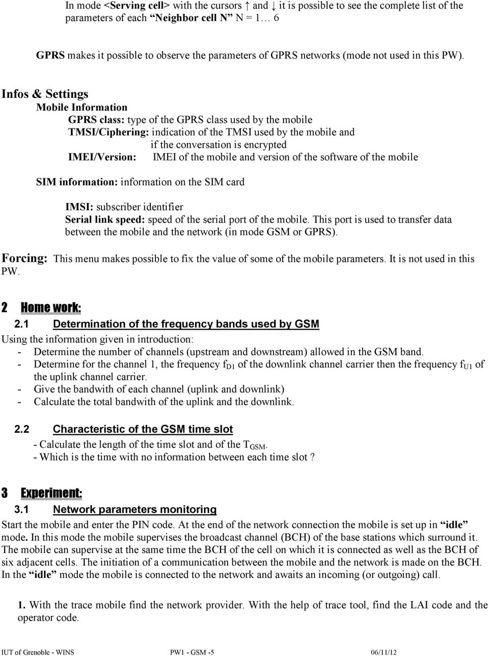 PW1 Monitoring a GSM network with a trace mobile - PDF