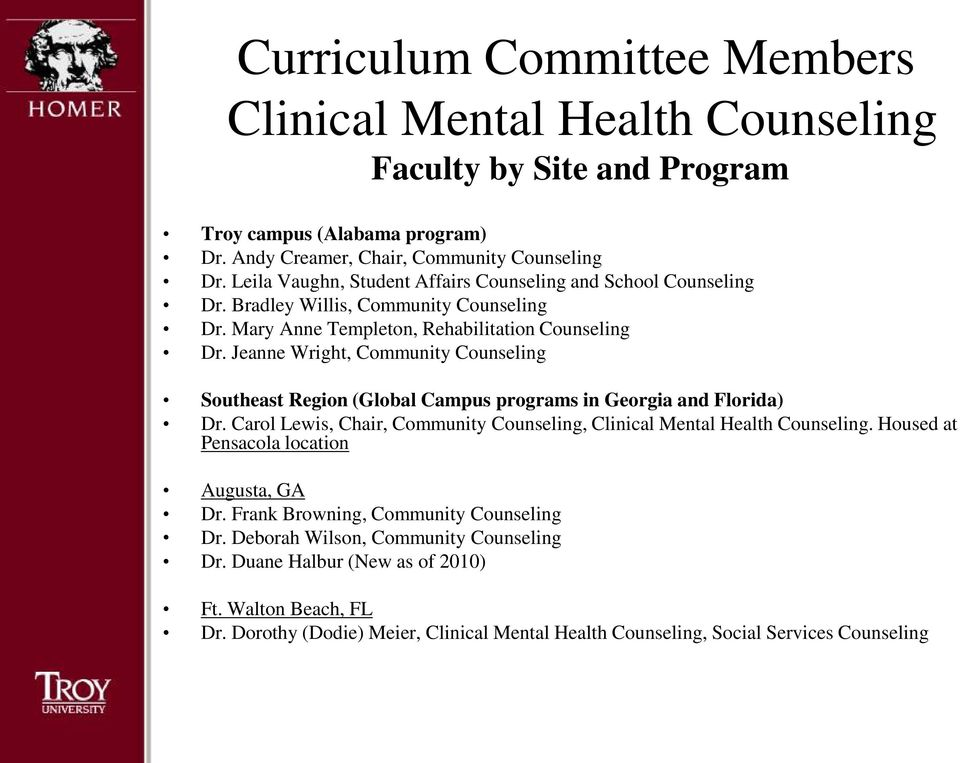 College Of Education Clinical Mental Health Master Of Science In