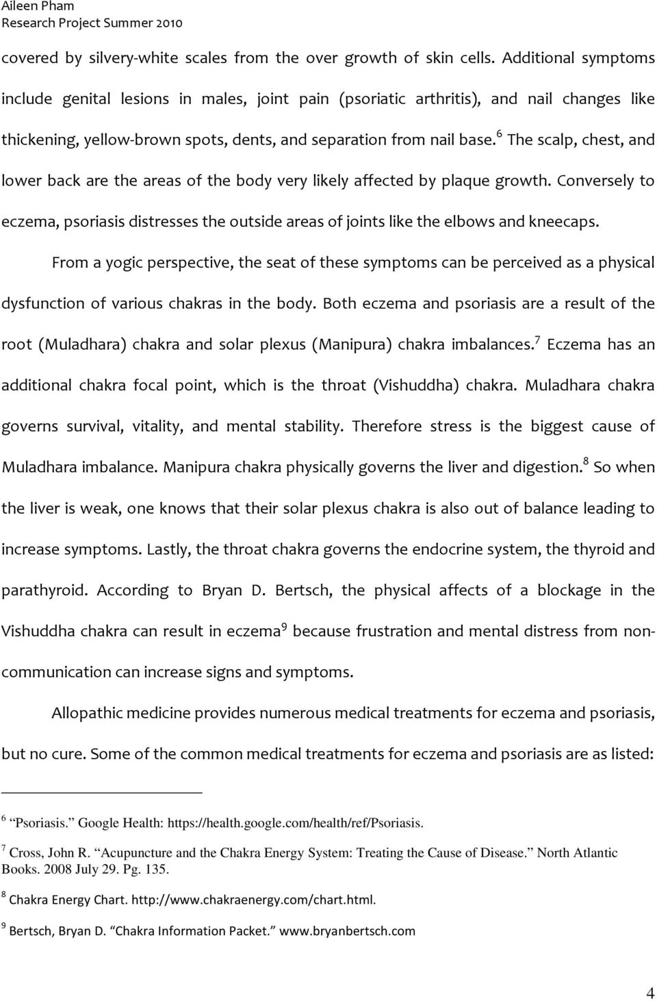 YOGIC TREATMENT OF DISEASE Eczema and Psoriasis - PDF