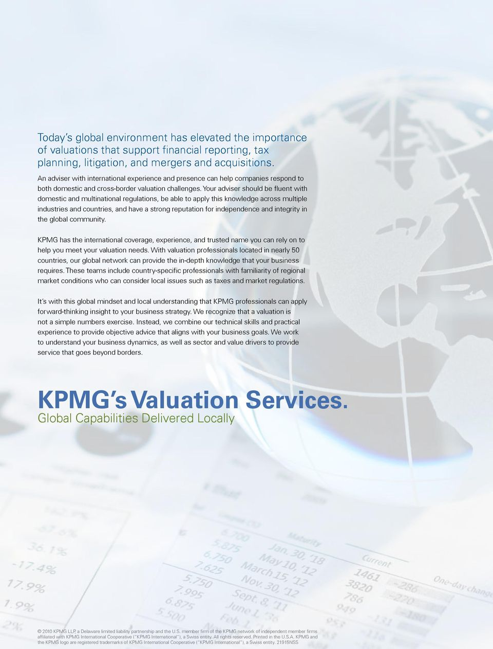 Valuation Services  Global Capabilities Delivered Locally