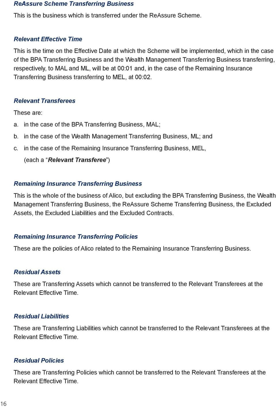 Insurance business transfer from Alico UK to MetLife - PDF