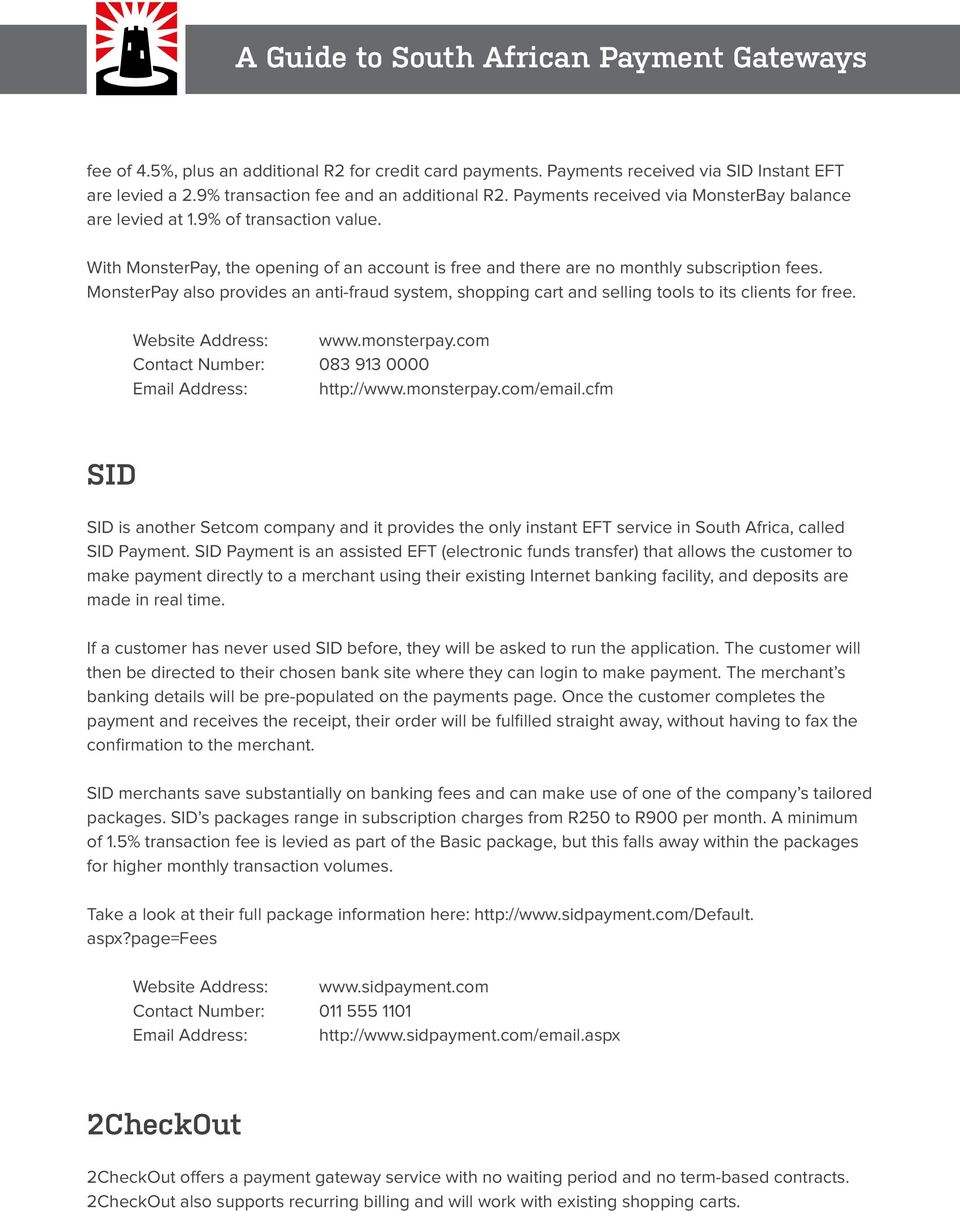 South African Payment Gateways - PDF
