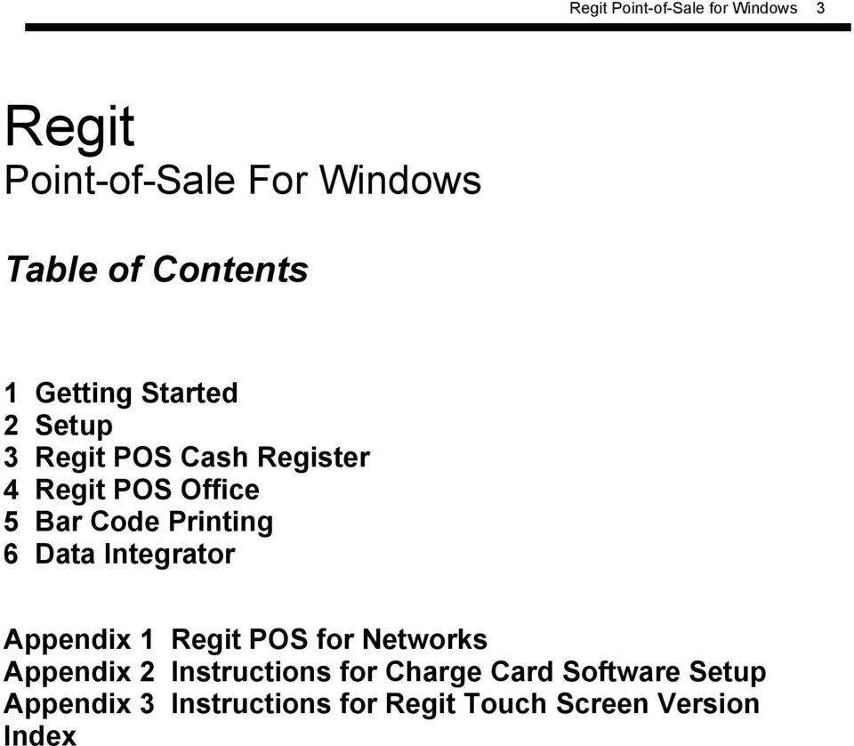 Regit Point-of-Sale for Windows  Regit  Point-of-Sale For
