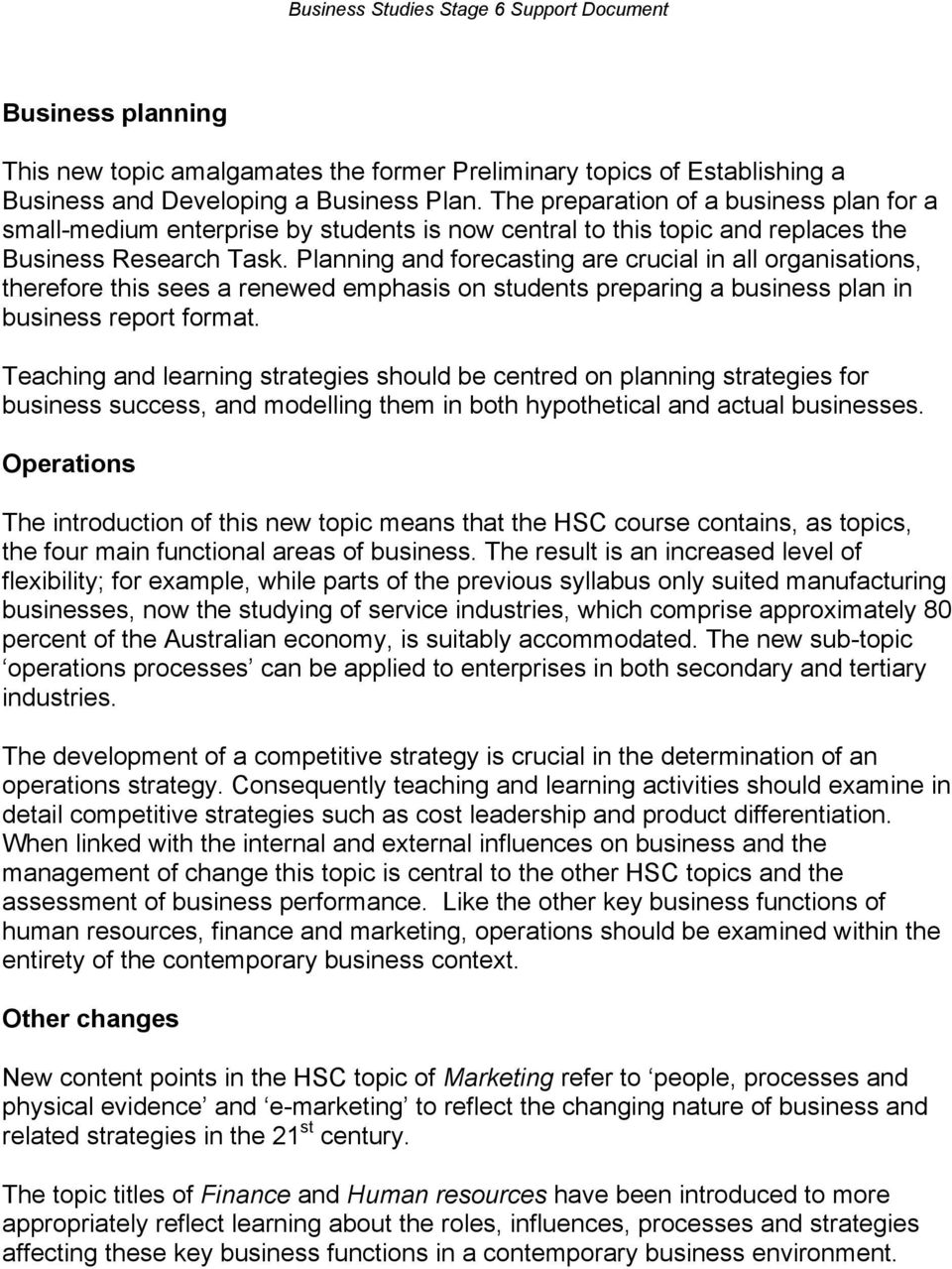 business studies stage 6 support document pdf