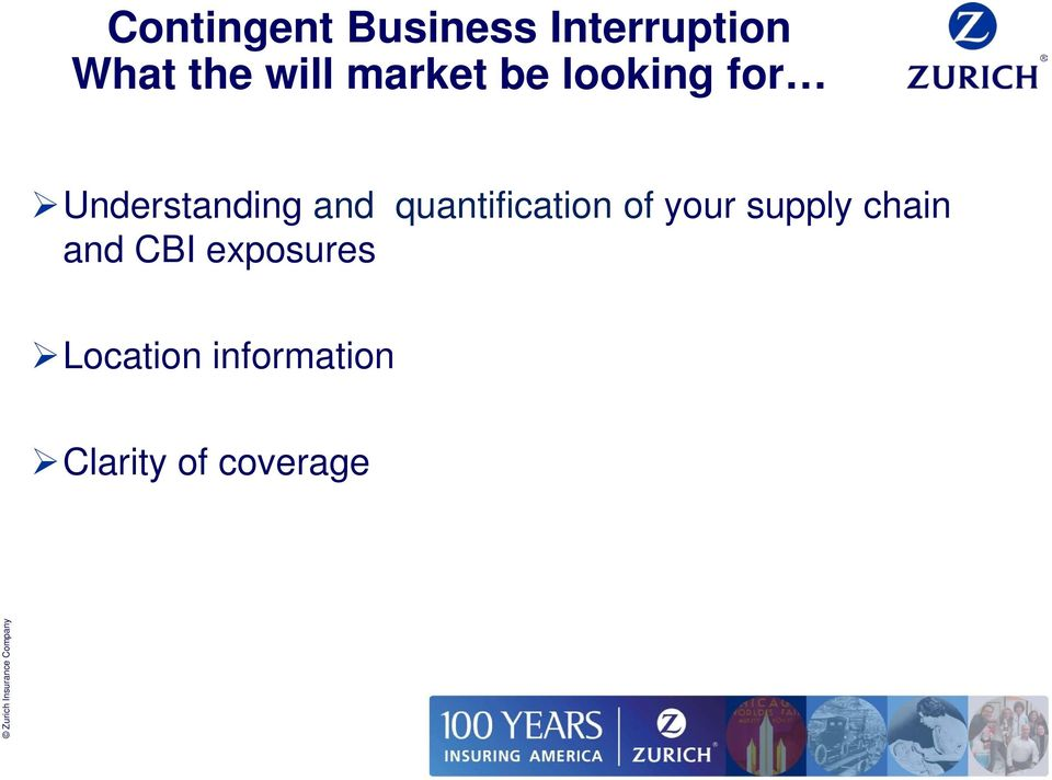 quantification of your supply chain and CBI