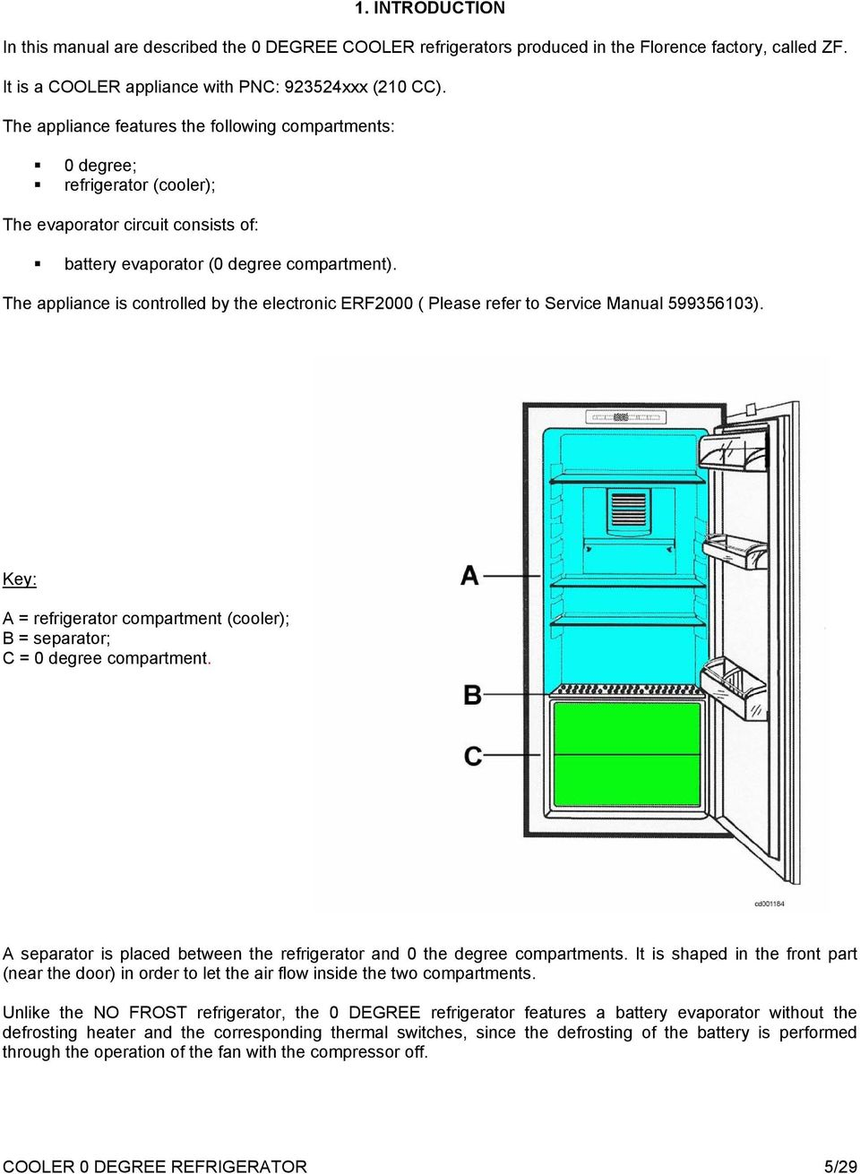 Service Manual Refrigeration Pdf Refrigerator Cooling Schematic The Appliance Is Controlled By Electronic Erf2000 Please Refer To 599356103