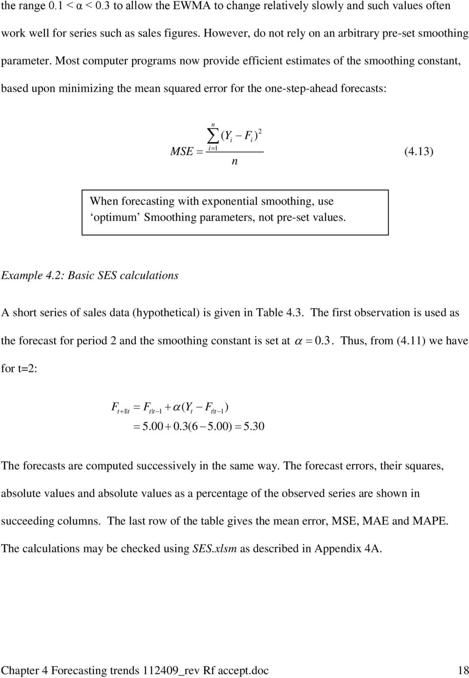 4  Forecasting Trends: Exponential Smoothing - PDF
