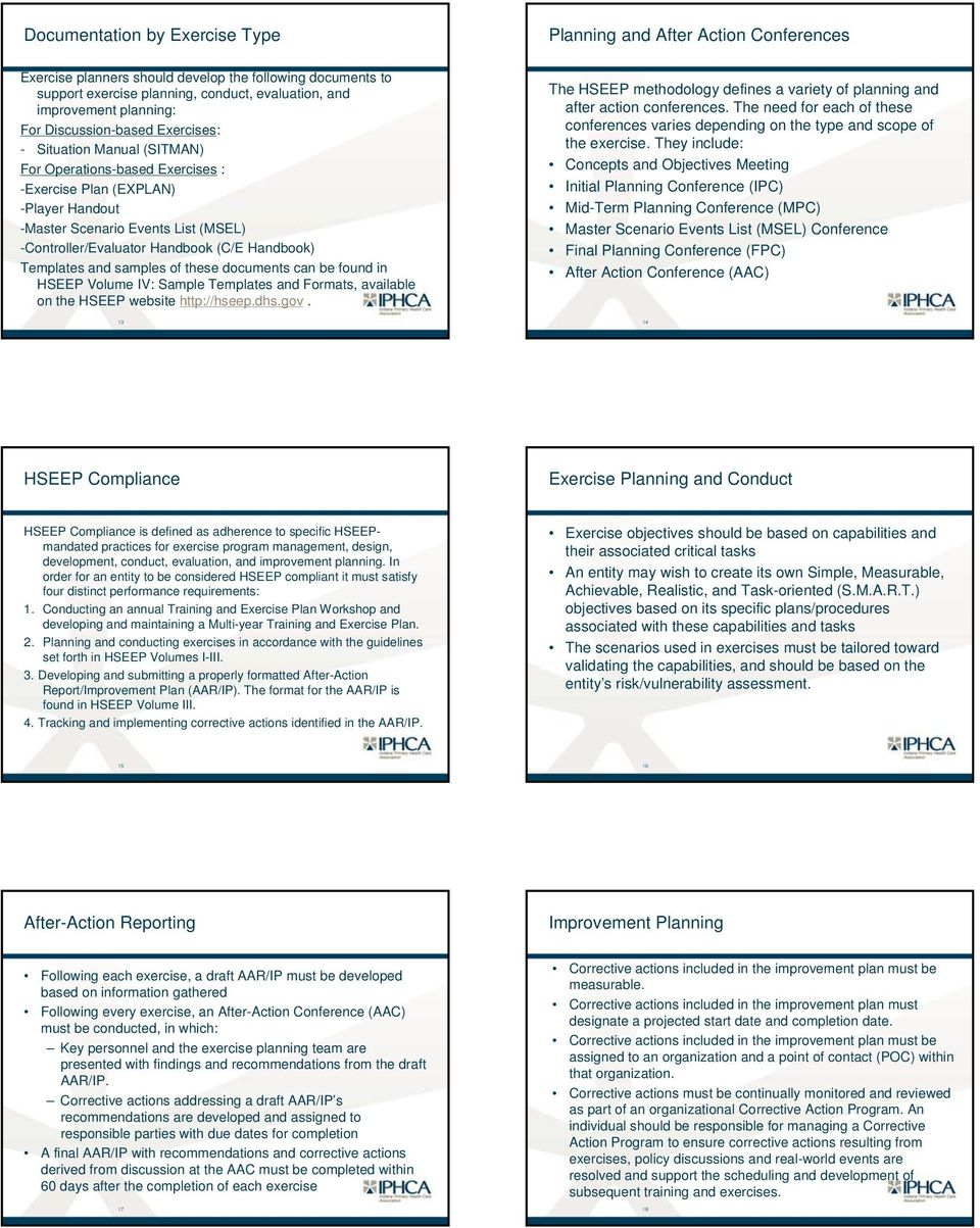 the homeland security exercise and evaluation program hseep pdf