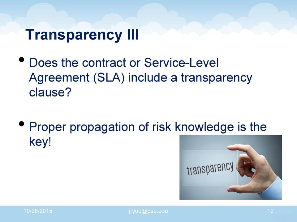 transparency clause?