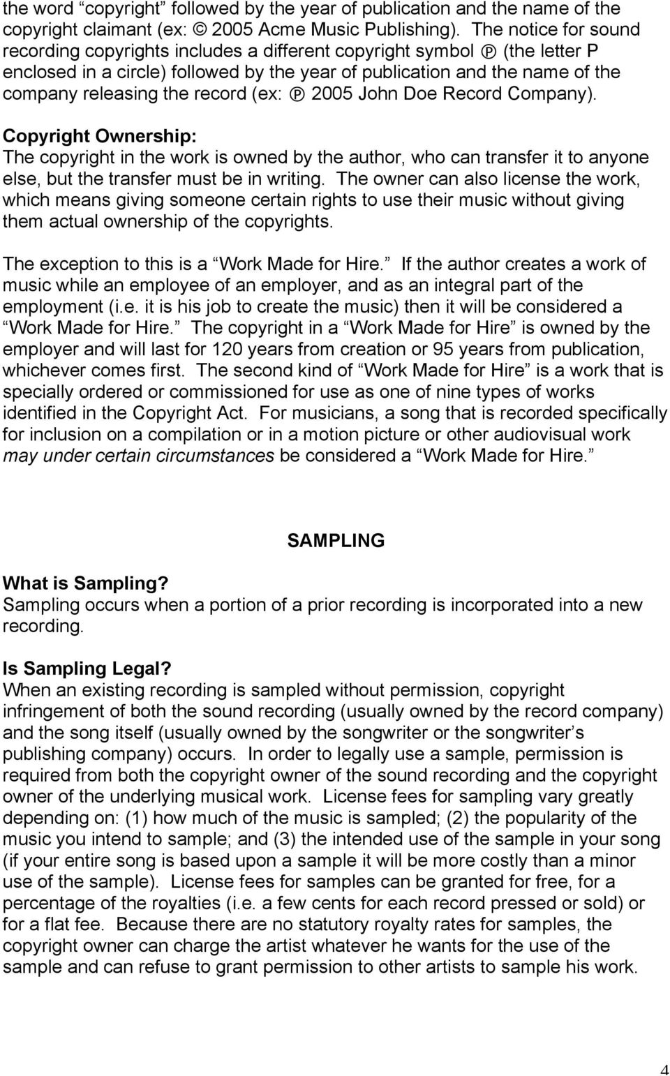 Legal Issues Involved In The Music Industry Pdf