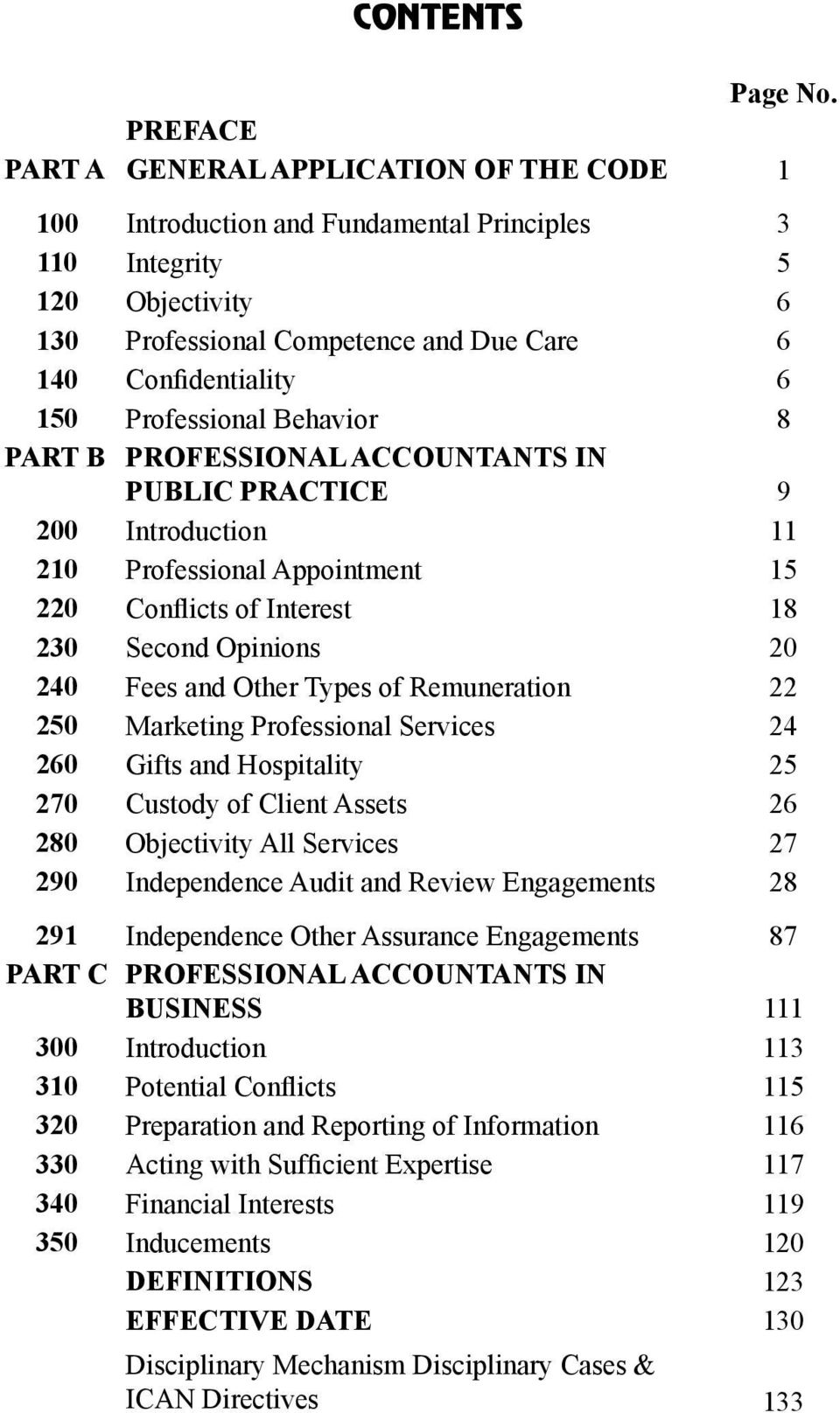 Professional Behavior 8 PART B PROFESSIONAL ACCOUNTANTS IN PUBLIC PRACTICE 9 200 Introduction 11 210 Professional Appointment 15 220 Conflicts of Interest 18 230 Second Opinions 20 240 Fees and Other