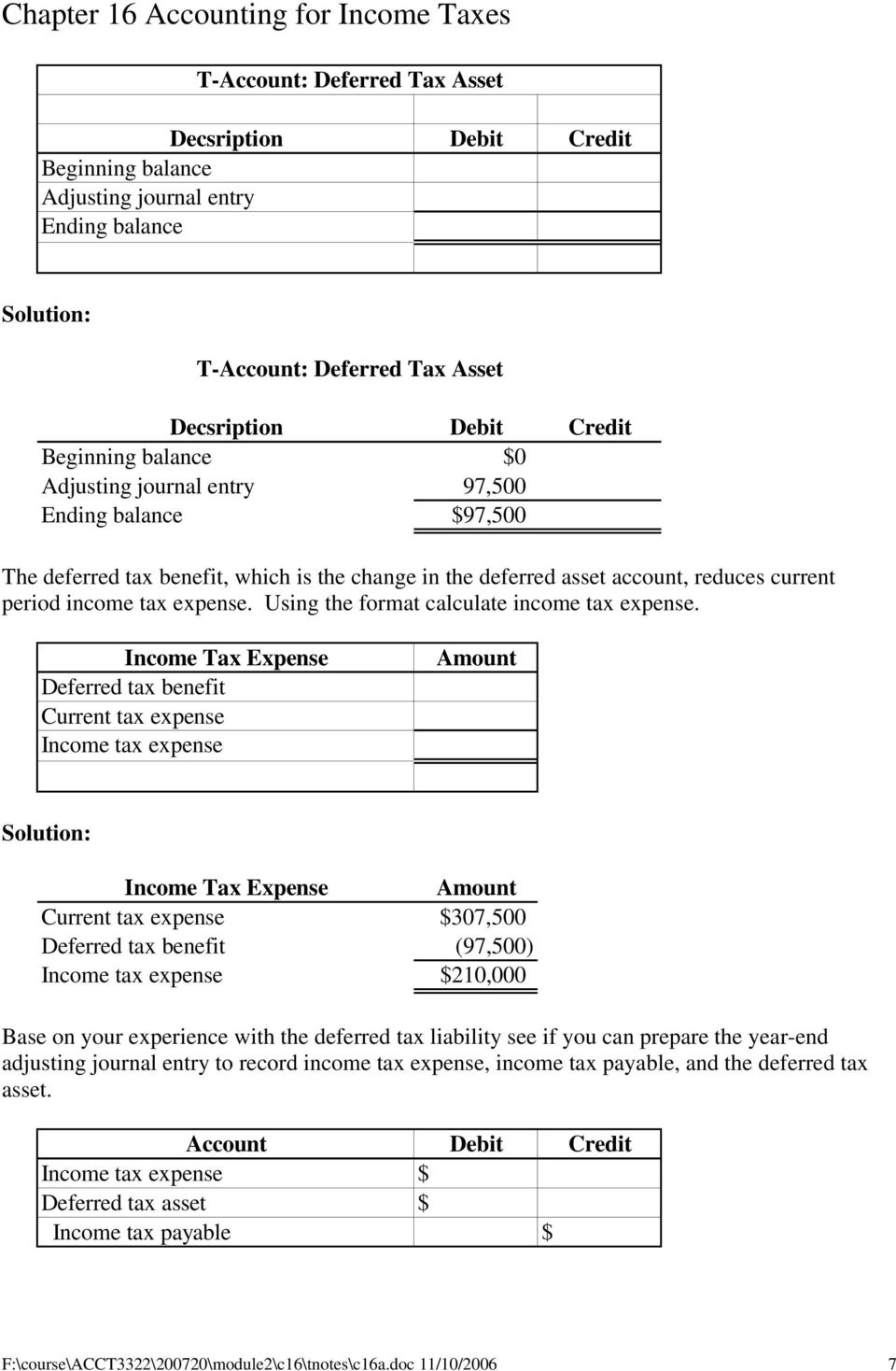 chapter 16 accounting for income taxes pdf