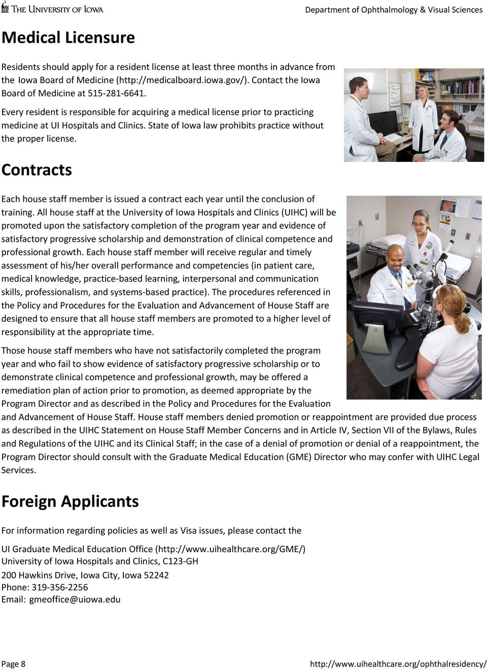 Ophthalmology Residency  About the Program  Ophthalmology