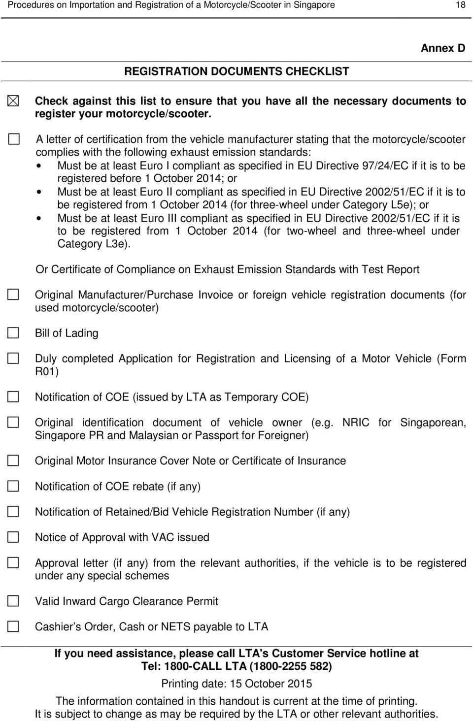 PROCEDURES ON IMPORTATION AND REGISTRATION OF A MOTORCYCLE/ SCOOTER