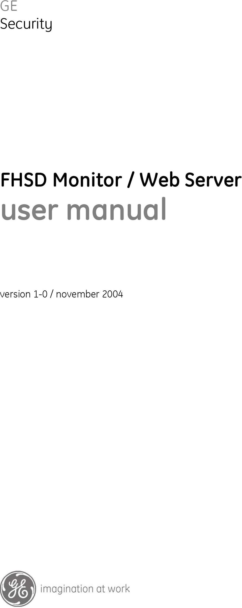 ... Array - ge security fhsd monitor web server user manual pdf rh  docplayer net