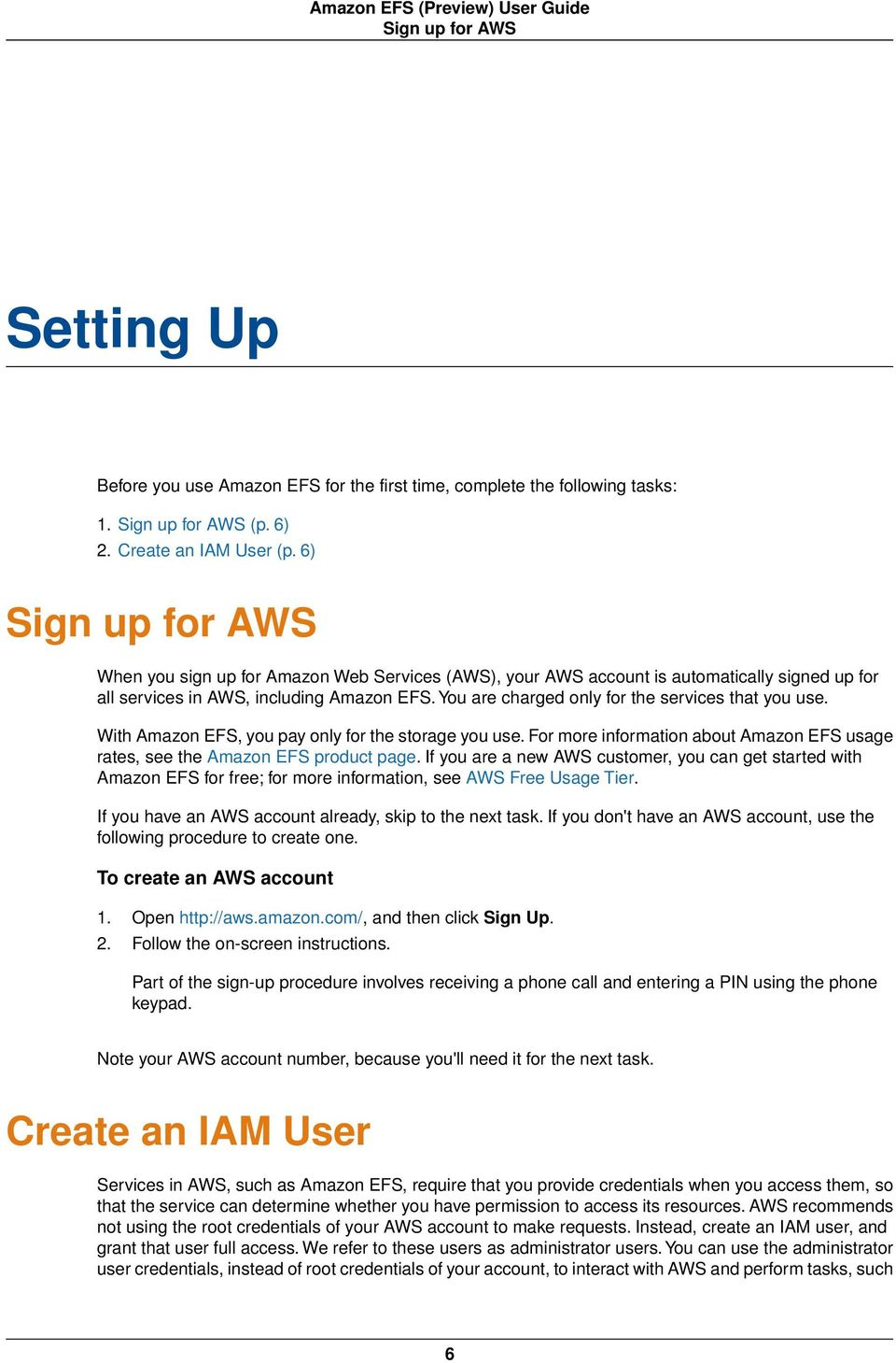 Amazon EFS (Preview) User Guide - PDF