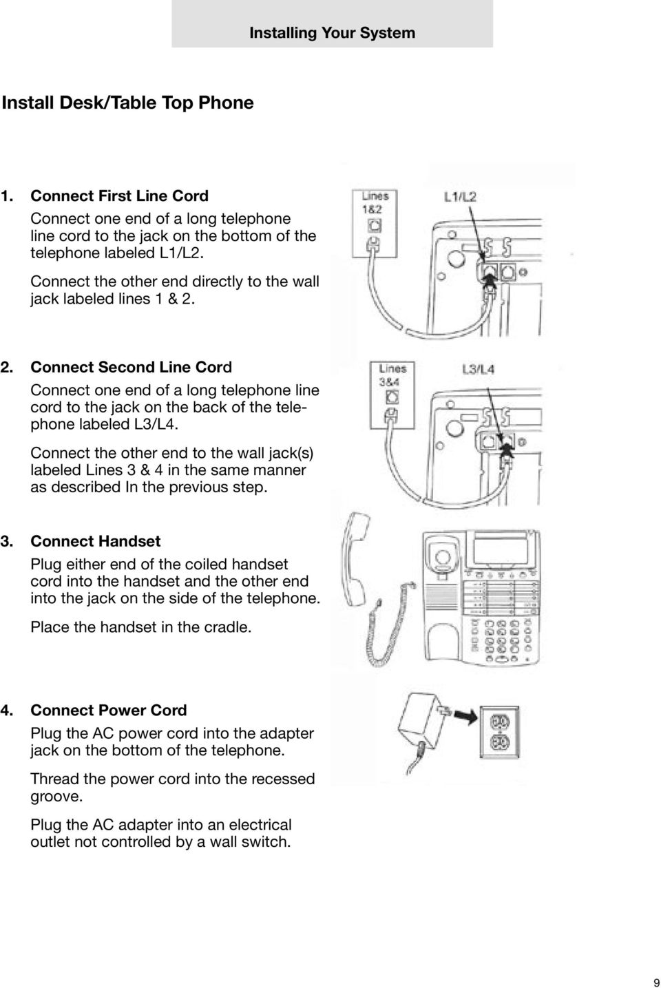 Technical Guide For Installation And Maintenance Pdf Ac Power Cord Wiring Connect The Other End To Wall Jacks Labeled Lines 3 4