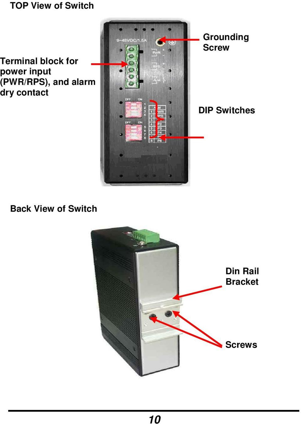 contact Grounding Screw DIP Switches