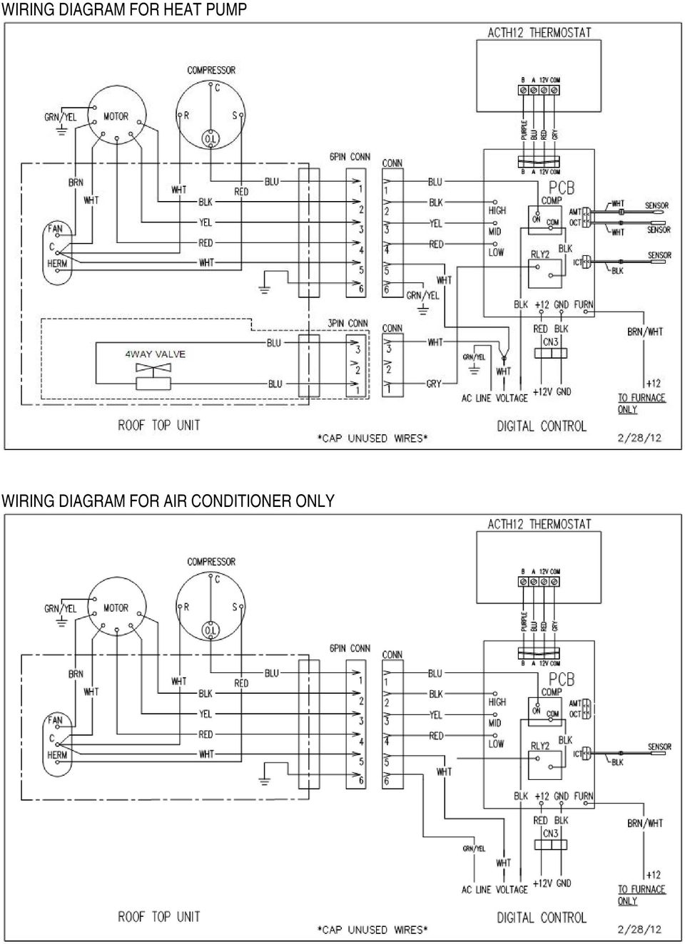 Air Conditioner Heat Pump Digital Control For Ducted System Advent Thermostat Wiring Diagram