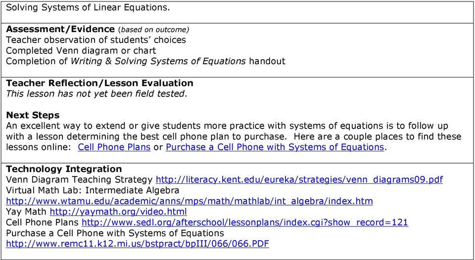 Solving Systems Of Linear Equations Putting It All Together Pdf