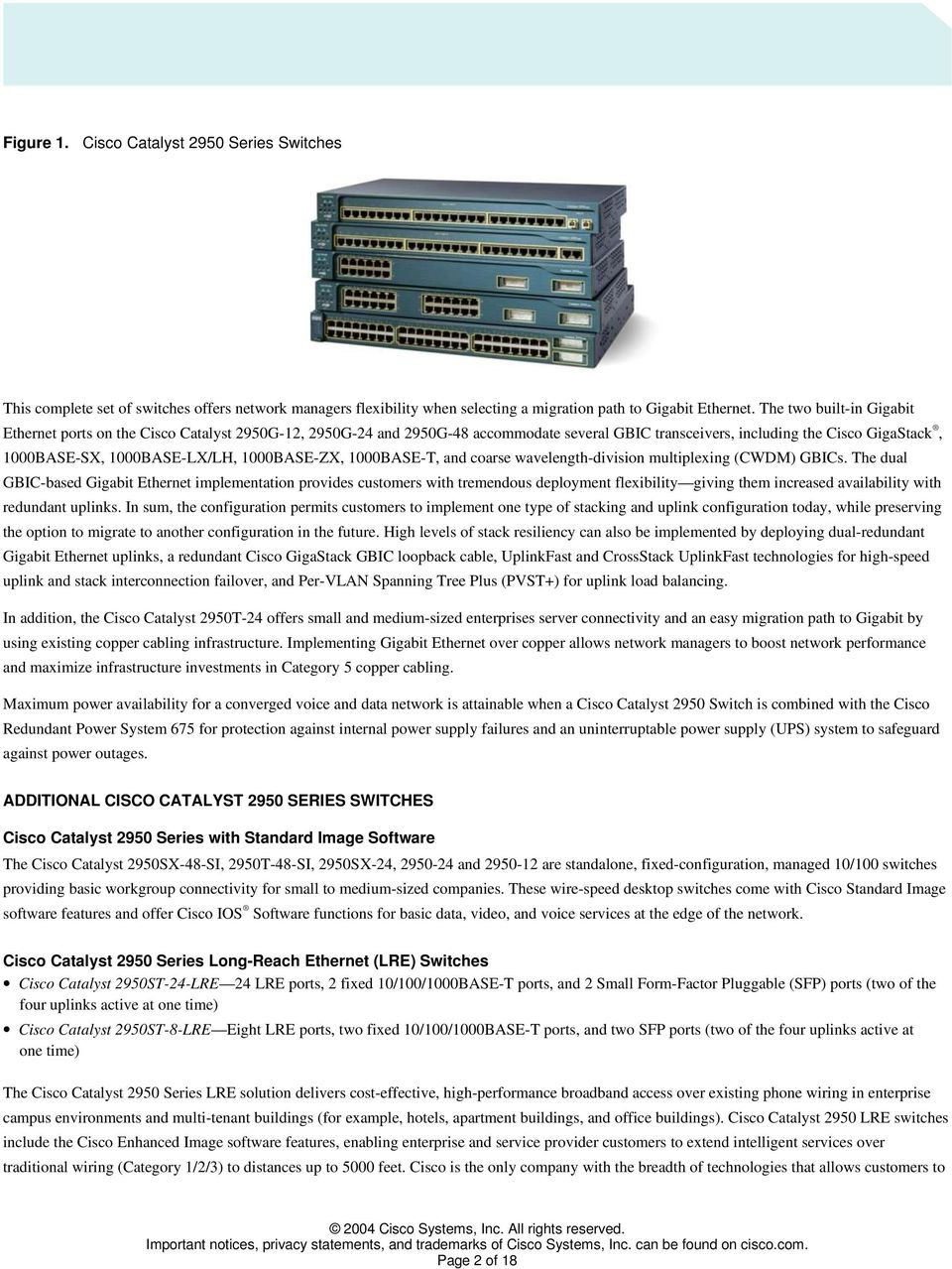 Cisco Catalyst 2950 Series Switches With Enhanced Image Software Pdf Voice Data Combination Module Ethernet Switch 1000base Zx T And Coarse Wavelength Division Multiplexing Cwdm