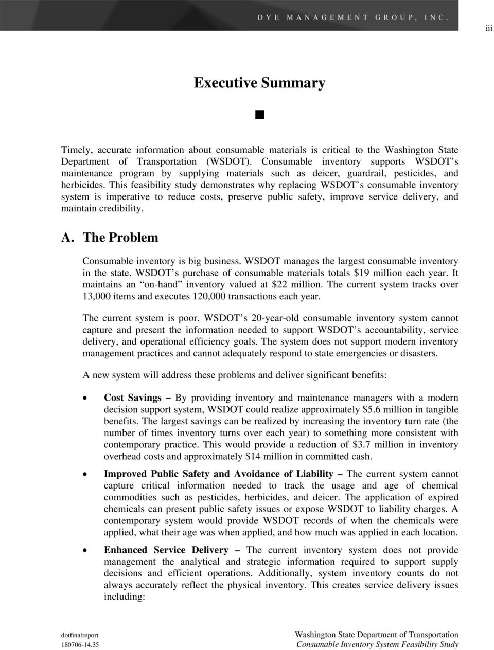 Consumable Inventory System Feasibility Study - PDF