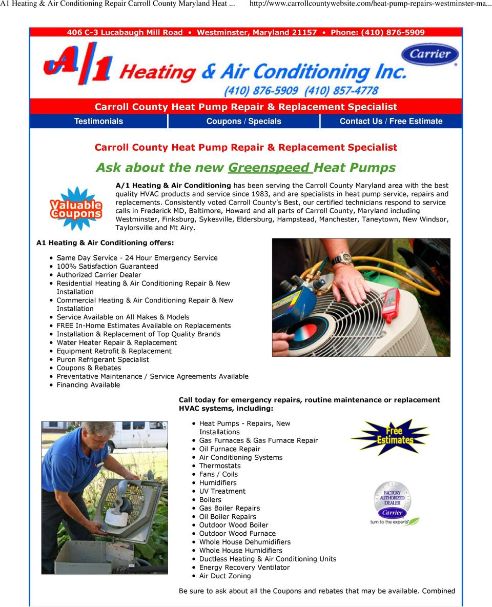 Ask About The New Greenspeed Heat Pumps Pdf Denver Air Conditioning Services Replacing A Thermostat Meanings Of Pump Repair Replacement Specialist A1 Heating