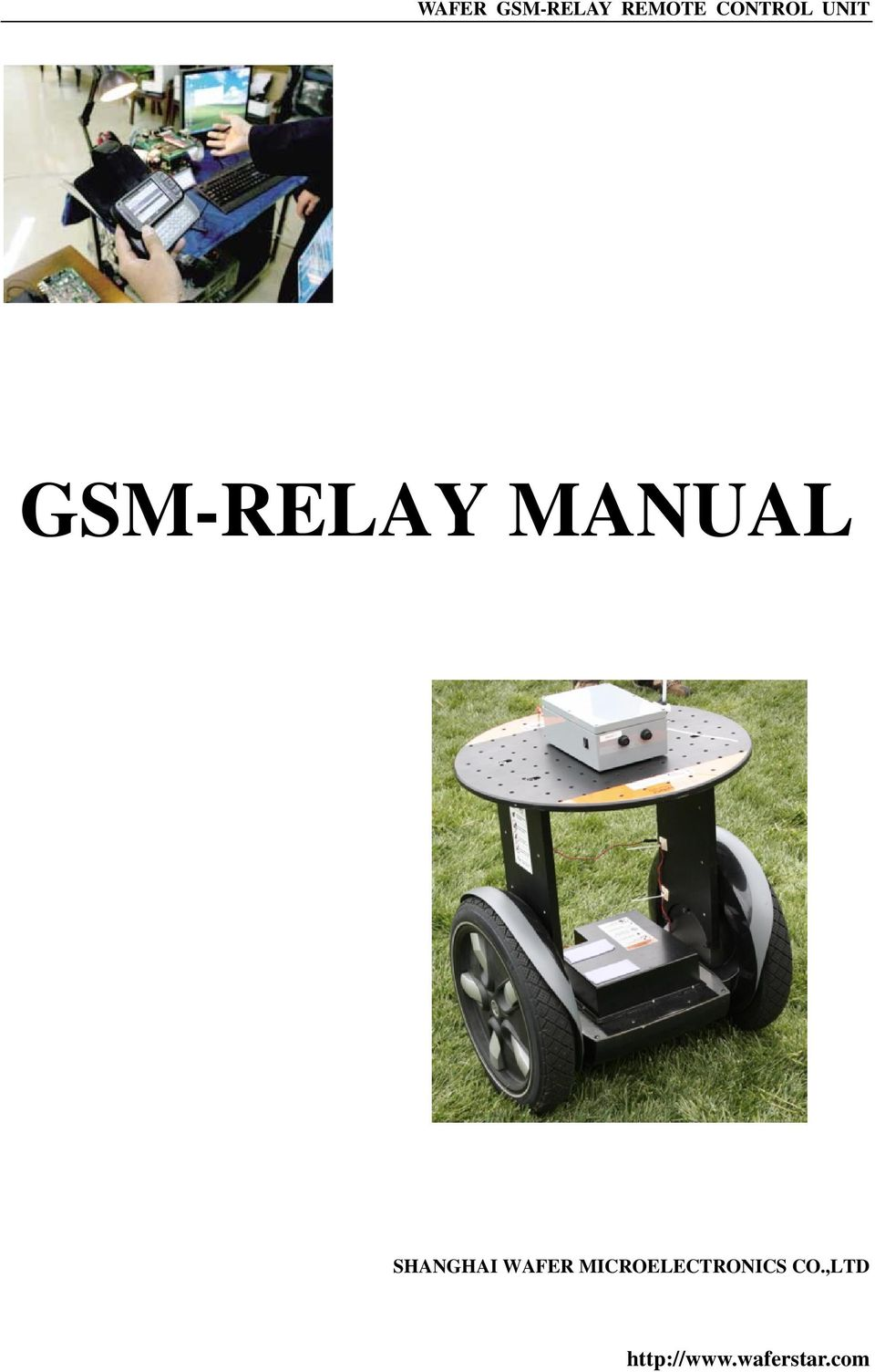 WAFER GSM-RELAY REMOTE CONTROL UNIT GSM-RELAY MANUAL