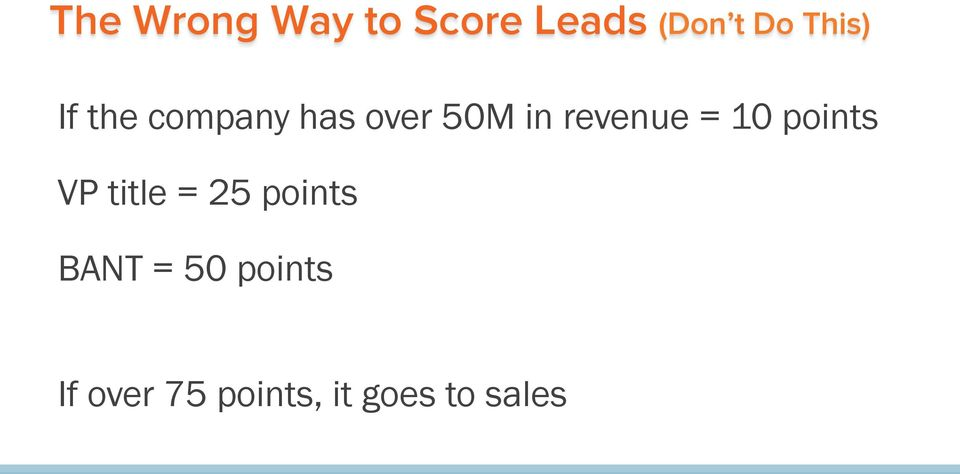 revenue = 10 points VP title = 25 points