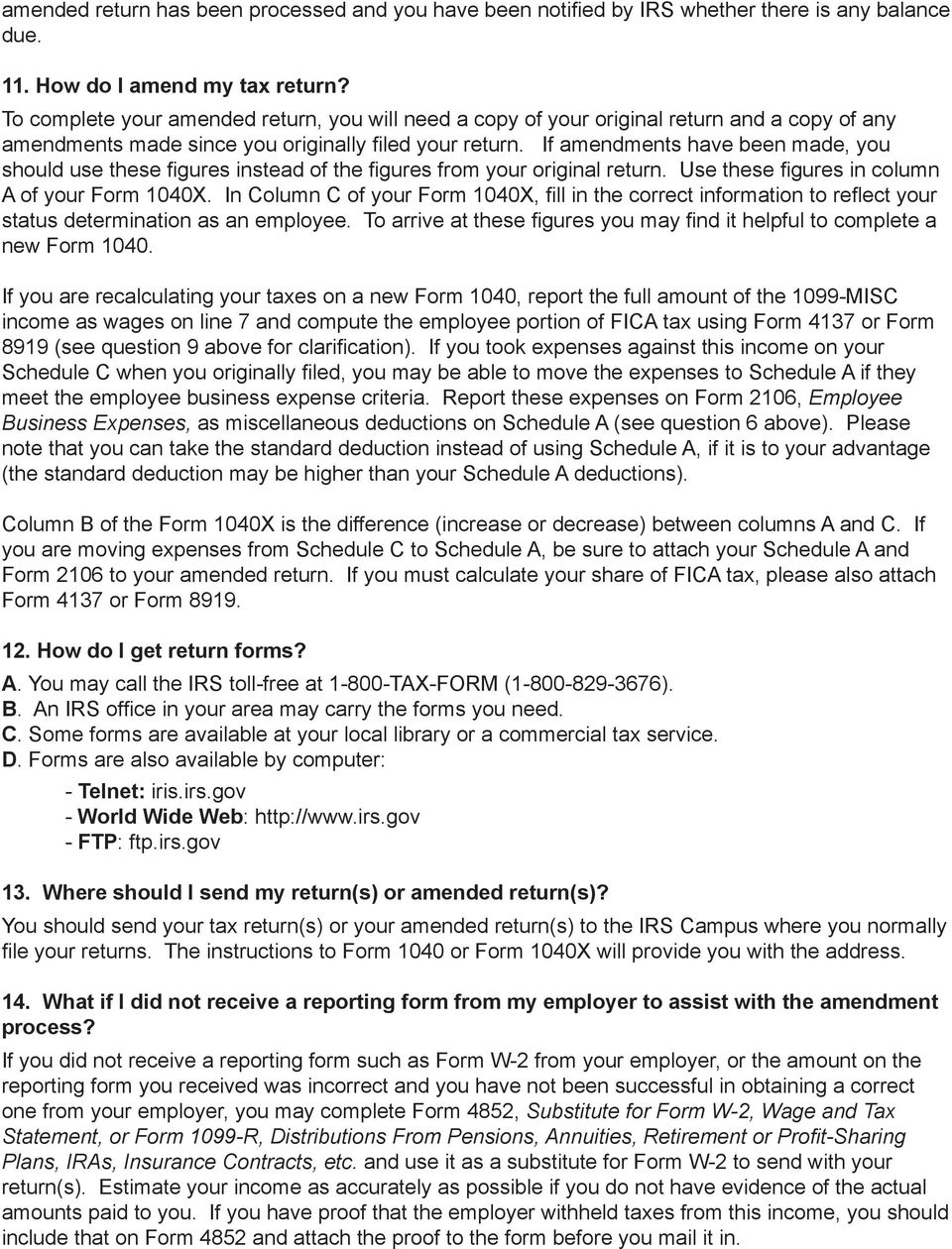 IRS. Commonly Asked Questions When IRS Determines Your Work Status ...