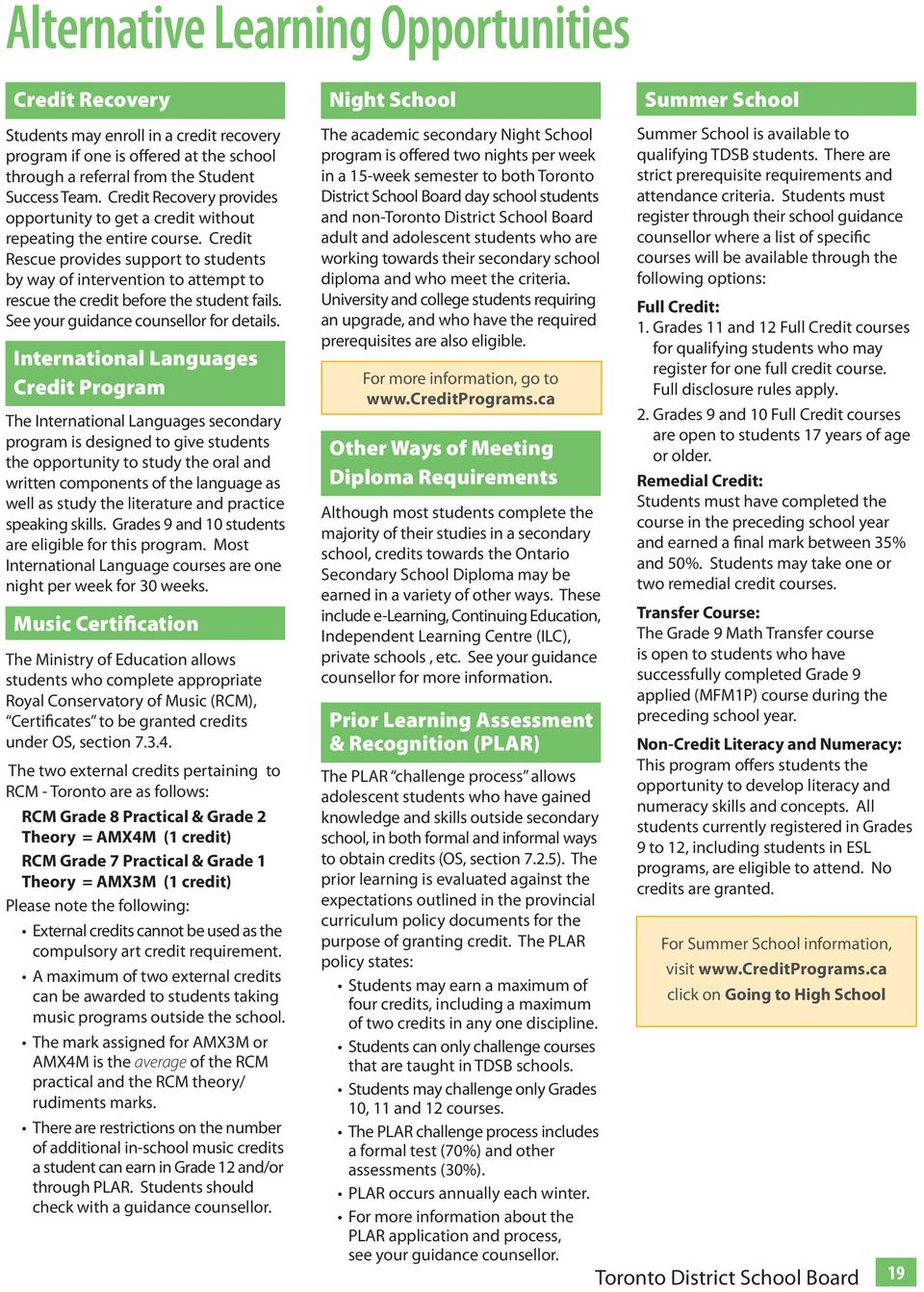 Choices SECONDARY SCHOOLS COURSE SELECTION & PLANNING GUIDE