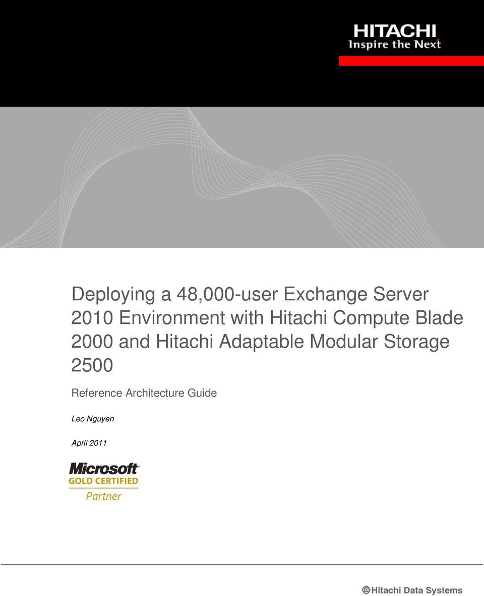 Hitachi Adaptable Modular Storage 2500 Reference