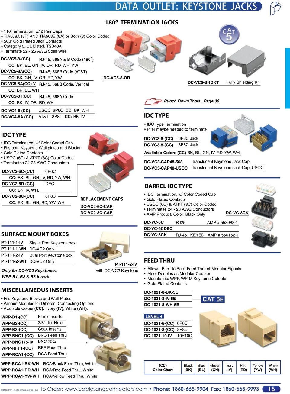 Voice Data Communication Components Accessories Pdf Cat 5 24 Punch Wiring Diagram Code Vertical Dc Vc5 8 Or Shdkt Fully