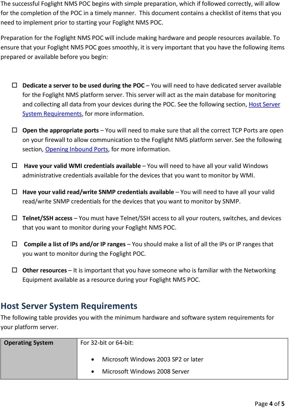 Foglight Nms Overview Pdf This Quick And Easy Technote Will Show You How To Wire Foglights Into Preparation For The Poc Include Making Hardware People Resources Available