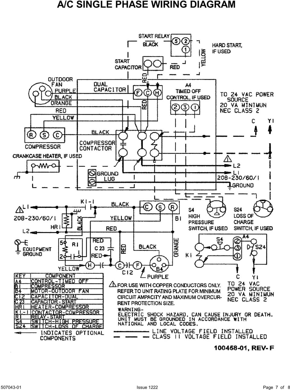 4ac13 14 Split System Air Conditioner Installation Start Up Wiring Diagram Pressor Hvac Superheat And