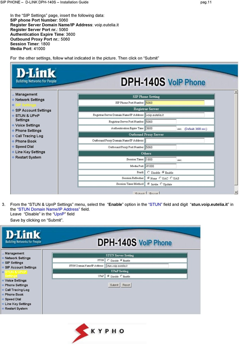 D-LINK DPH-140S SIP PHONE INSTALLATION GUIDE - PDF