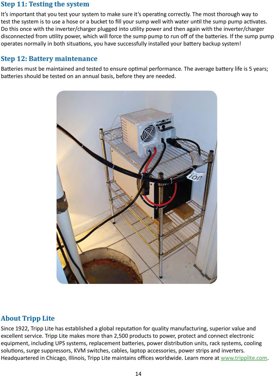 Selecting And Installing A Tripp Lite Battery Backup System For Your Sun Pump Switch Wiring Diagram Do This Once With The Inverter Charger Plugged Into Utility Power Then Again