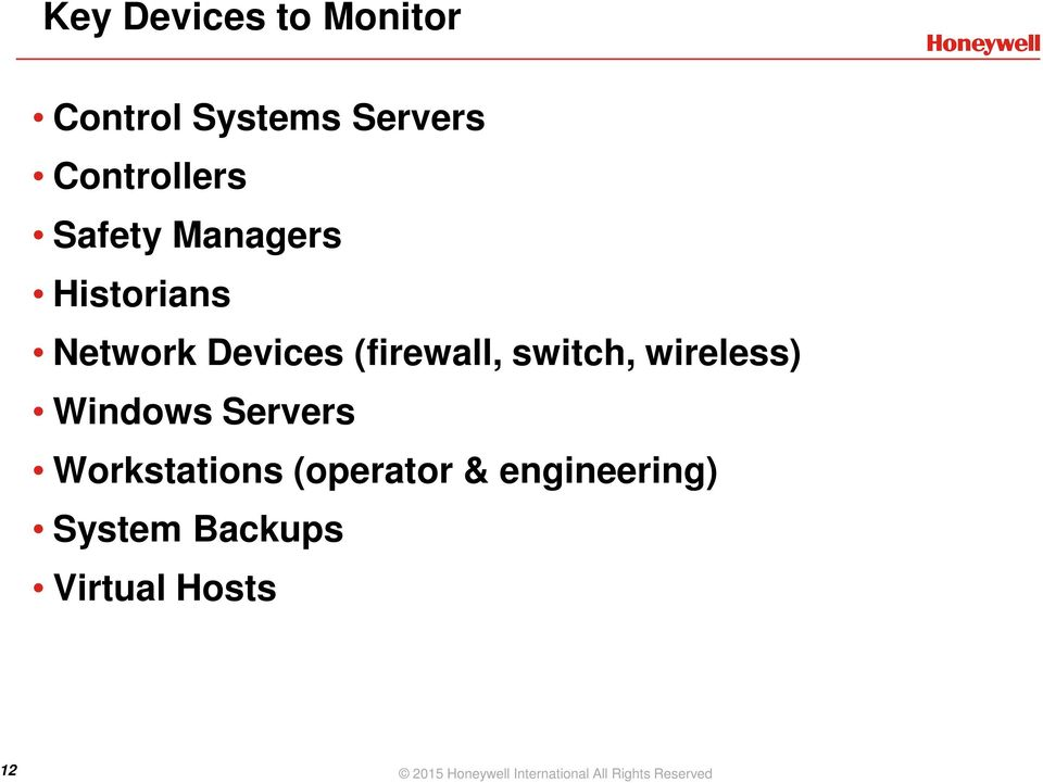 Windows Servers Workstations (operator & engineering) System