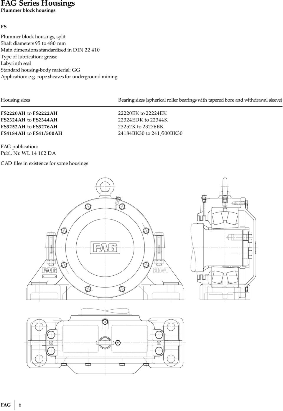 Technical Information Pdf Roll Bearing Energy Saving Ball Mill Diagram Fs41 500ah Sizes Spherical Roller Bearings With Tapered Bore And Withdrawal Sleeve