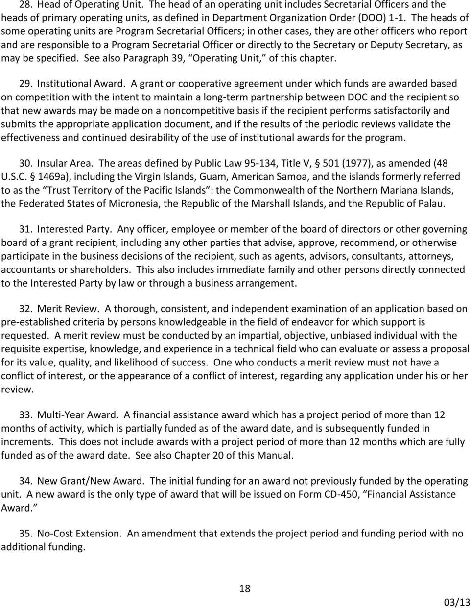 Department Of Commerce Grants And Cooperative Agreements Manual Pdf