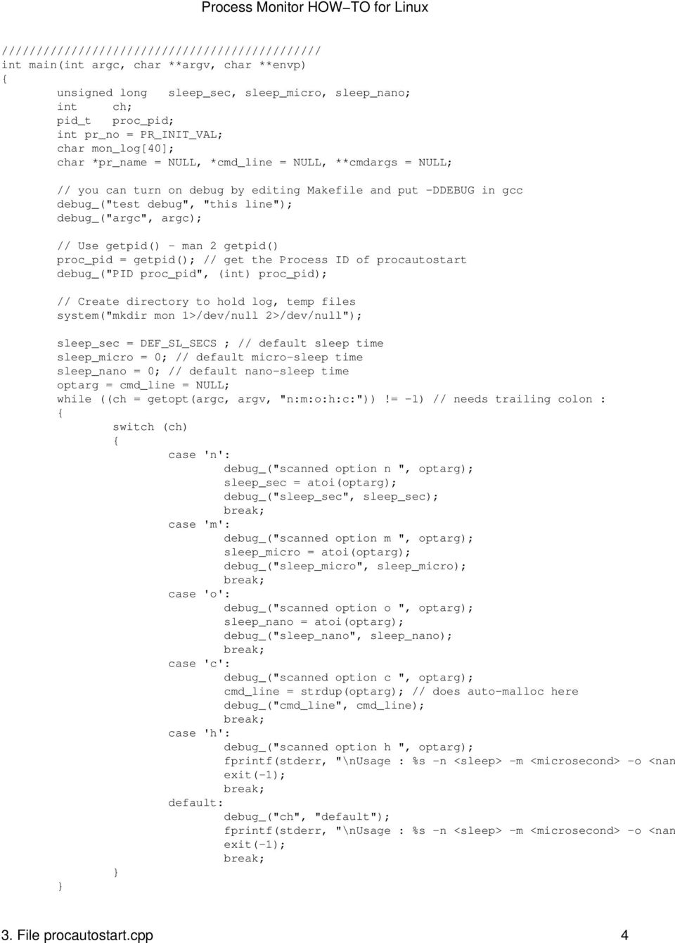Process Monitor HOW TO for Linux - PDF