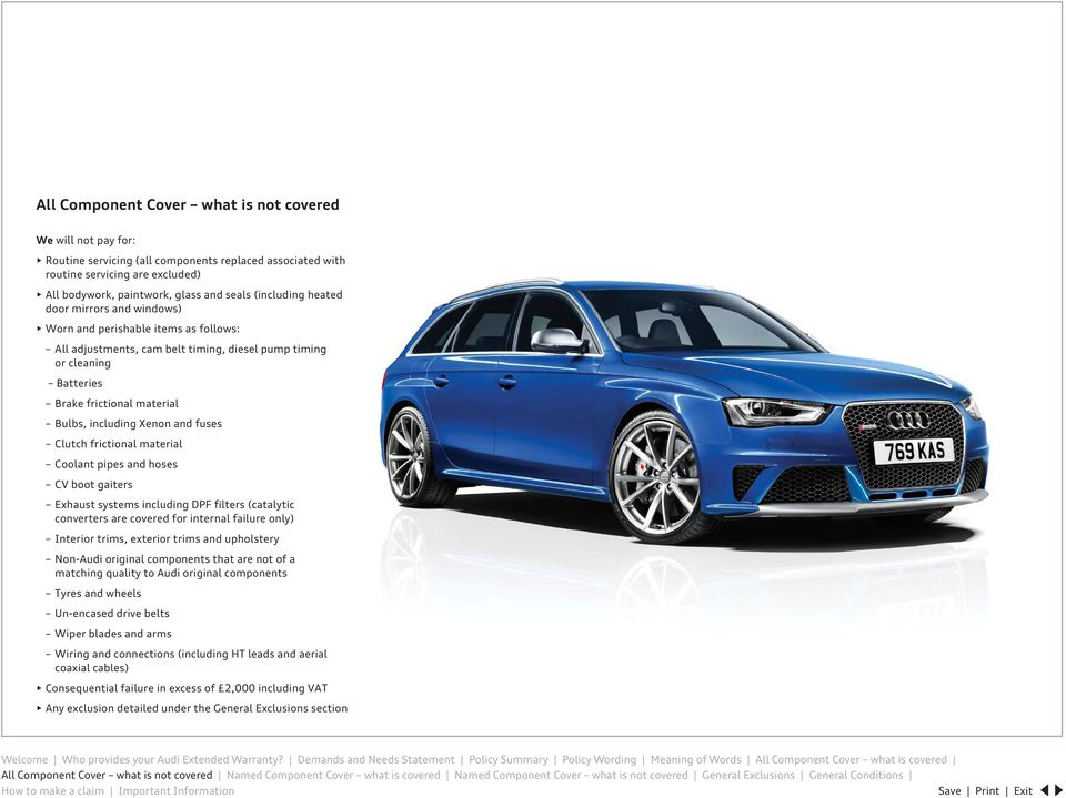 Audi Extended Warranty Cover Booklet - PDF