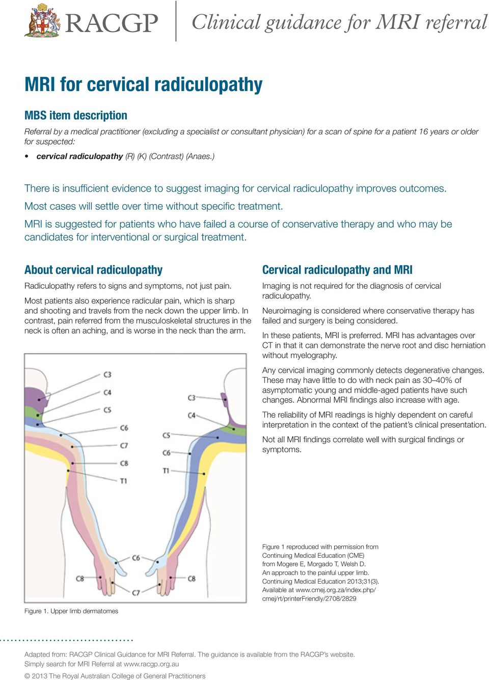 Clinical guidance for MRI referral - PDF