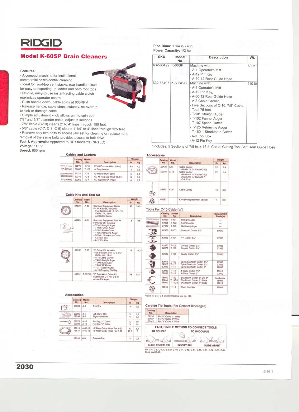 Drain Cleaners Pipe Freezers Cleaning Inspection Equipment Ridgid K 400 Wiring Diagram Simple Adjustment Knob Allows Unit To Spin Both 7 8 And 5